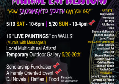 Mural Expressions event flyer