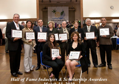 Inductees Scholarship 2010