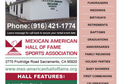 Mexican American Hall of Fame Hall Rental