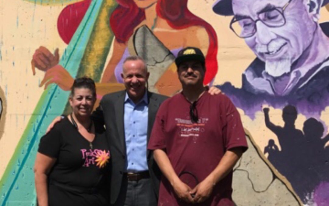 """Sports Raza"" Community Mural in South Sacramento!"