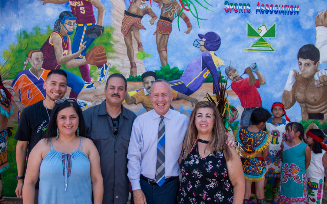 'Sports Raza' mural unveiling